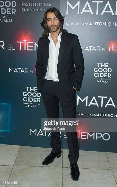 Actor Aitor Luna attends 'Matar el tiempo' premiere at Capitol cinema on May 28 2015 in Madrid Spain