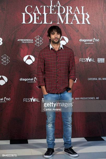 Actor Aitor Luna attends the 'La Catedral del Mar' photocall at the Palacio de Congresos during the FesTVal 2017 on September 8 2017 in...