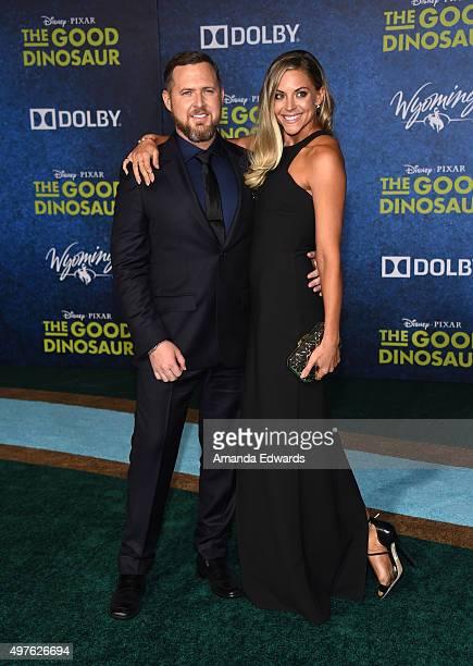 Actor AJ Buckley and Abigail Ochse arrive at the premiere of DisneyPixar's The Good Dinosaur on November 17 2015 in Hollywood California