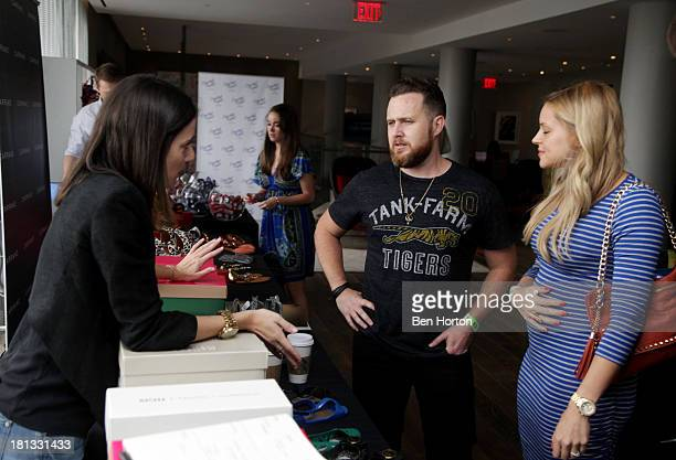 Actor AJ Buckley and Abigail Ochse attend Kari Feinstein's PreEmmy Style Lounge at the Andaz Hotel on September 20 2013 in Los Angeles California
