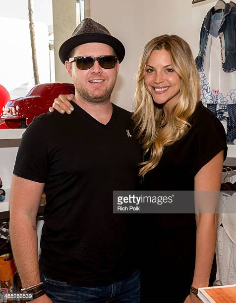 Actor AJ Buckley and Abigail Ochse attend the Catimini Beverly Hills Store Opening Event at Catimini Beverly Hills on April 16 2014 in Beverly Hills...