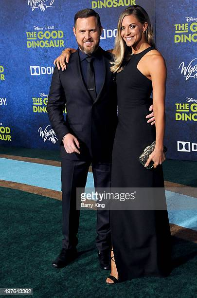 Actor AJ Buckley and Abigail Ochse attend the Premiere of DisneyPixar's 'The Good Dinosaur' at the El Capitan Theatre on November 17 2015 in...