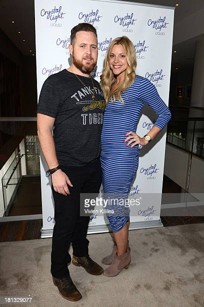Actor AJ Buckley and Abigail Ochse stop by Crystal Light Liquid as they toast the Emmys at Kari Feinstein's PreEmmy Style Lounge at the Andaz Hotel...