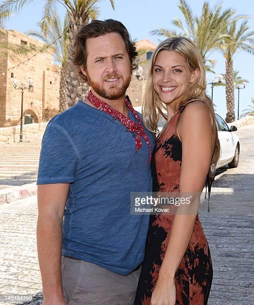 Actor AJ Buckley and girlfriend Abigail Ochse visit Jaffa's old city on May 31 2012 in Tel Aviv Israel