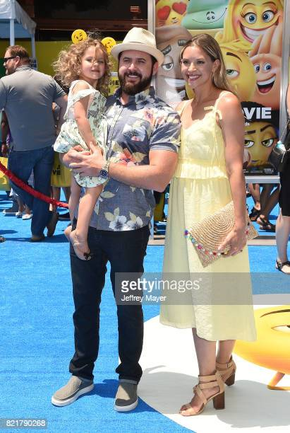 Actor AJ Buckley arrives at the Premiere Of Columbia Pictures And Sony Pictures Animation's 'The Emoji Movie' at Regency Village Theatre on July 23...