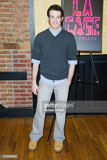 Actor AJ Shively attends the after party for Kelsey Grammer Douglas Hodge Robin De Jesus Fred Applegate's final performance in La Cage Aux Folles on...