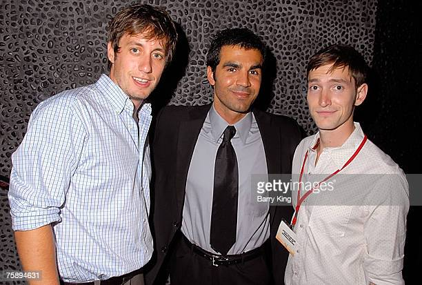 WEST HOLLYWOOD CA JULY 30 Actor AJ Tesler actor Ojani Noa and actor Steve Basilone attend the 2007 Independent Television Festival Closing Night...