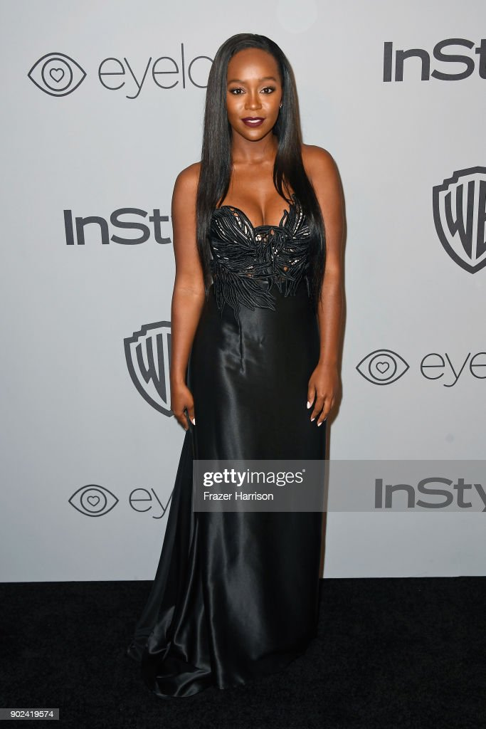 Actor Aja Naomi King attends 19th Annual Post-Golden Globes Party hosted by Warner Bros. Pictures and InStyle at The Beverly Hilton Hotel on January 7, 2018 in Beverly Hills, California.