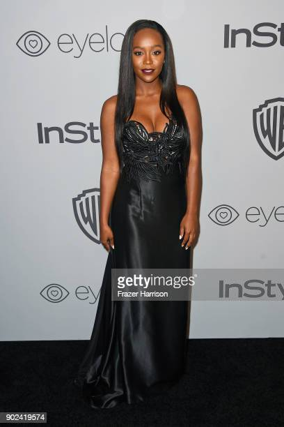 Actor Aja Naomi King attends 19th Annual PostGolden Globes Party hosted by Warner Bros Pictures and InStyle at The Beverly Hilton Hotel on January 7...