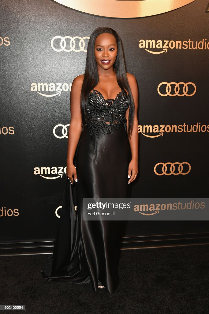 Actor Aja Naomi King attends Amazon Studios' Golden Globes Celebration at The Beverly Hilton Hotel on January 7, 2018 in Beverly Hills, California.