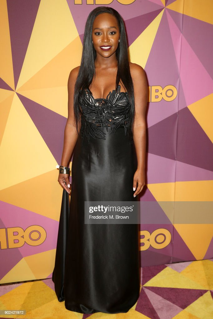 Actor Aja Naomi King attends HBO's Official Golden Globe Awards After Party at Circa 55 Restaurant on January 7, 2018 in Los Angeles, California.