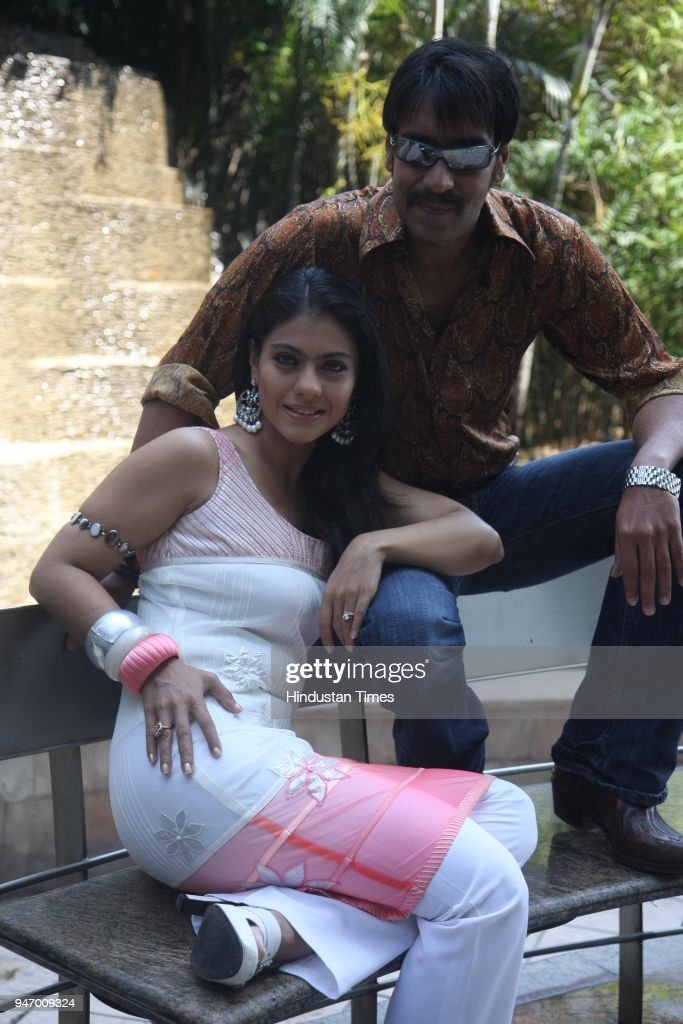 Actor Ajay Devgun along with his wife and actress Kajol during the photoshoot for HT City in New Delhi