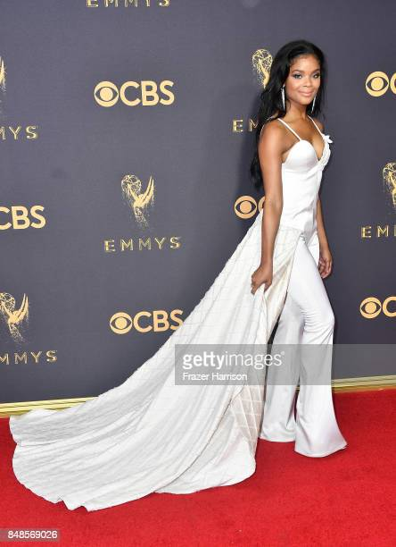 Actor Ajiona Alexus attends the 69th Annual Primetime Emmy Awards at Microsoft Theater on September 17 2017 in Los Angeles California