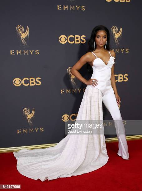 Actor Ajiona Alexus attends the 69th Annual Primetime Emmy Awards Arrivals at Microsoft Theater on September 17 2017 in Los Angeles California
