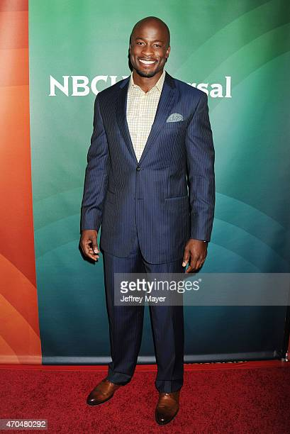 Actor Akbar Gbajabiamila attends the 2015 NBCUniversal Summer Press Day held at the The Langham Huntington Hotel and Spa on April 02, 2015 in...