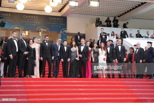 Actor Akin Aksu a guest producer Zeynep Ozbatur Atakan actress Hazar Erguclu actor Dogu Demirkol director Nuri Bilge Ceylan Ayaz Ceylan writer Ebru...