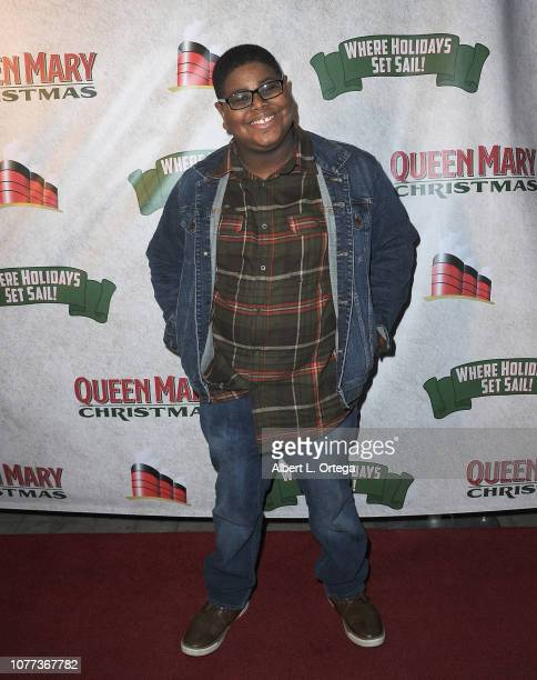 Actor Akinyele Caldwell attends the Queen Mary Christmas Media VIP Night held on November 26 2018 in Long Beach California
