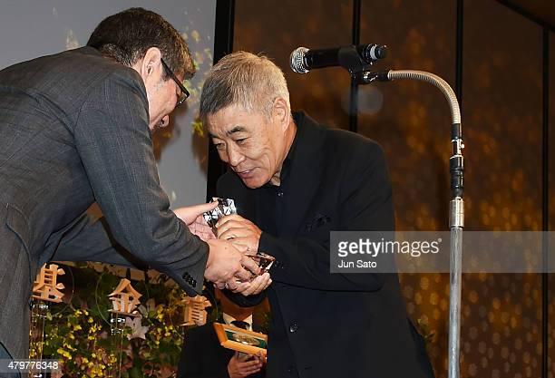 Actor Akira Emoto attends the Hoso Bunka Foundation Prize on July 7 2015 in Tokyo Japan