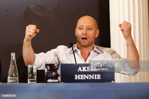 Actor Aksel Hennie attends the press conference of Paramount Pictures 'HERCULES' at Hotel Adlon on August 21, 2014 in Berlin, Germany.