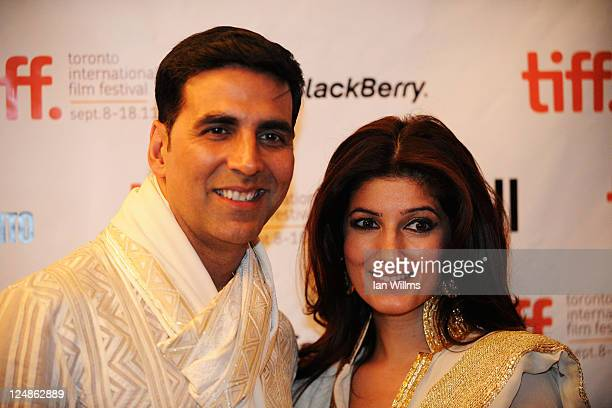 Actor Akshay Kumar and guest arrive at 'The Breakaway' Premiere at The Elgin during the 2011 Toronto International Film Festival on September 10 2011...