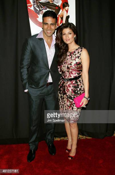 Actor Akshay Kumar and guest attend the premiere of Chandni Chowk to China at the AMC Empire 25 on January 8 2009 in New York City