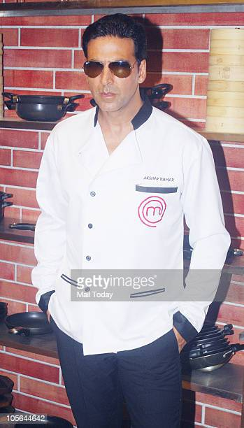 Actor Akshay Kumar on the sets of the show 'Master Chef' in Mumbai on Friday October 15 2010