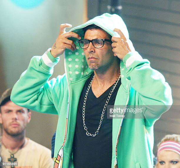 Actor Akshay Kumar shoots a song sequence for his film Blue in Mumbai on Friday September 18 2009