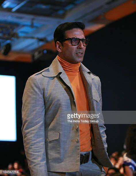 Actor Akshay Kumar walks the ramp with Neeta Lulla's design at LFW in Mumbai on September 21 2010