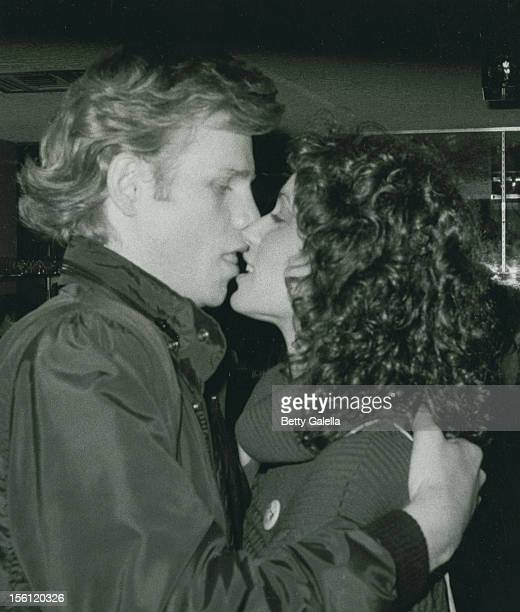 Actor Al Corley and date Michelle Troxell attending 39th Birthday Party for Bo Hopkins on February 7 1981 at the Continental Hyatt Hotel in Century...