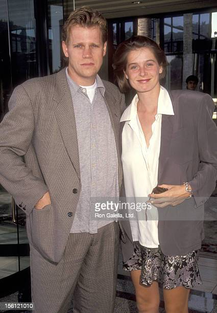 Actor Al Corley and wife Jessika Cardinahl attend the ABC Summer TCA Press Tour on July 20 1991 at Universal Hilton Hotel in Universal City California