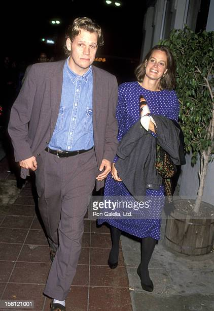 Actor Al Corley and wife Jessika Cardinhal attend the 'A Few Good Men' Westwood Premiere on December 9 1992 at Mann Village Theatre in Westwood...