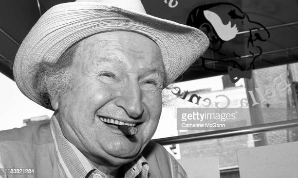 Actor Al Lewis poses for a portrait in his restaurant Grampa's Bella Gente on Bleeker St in New York City New York