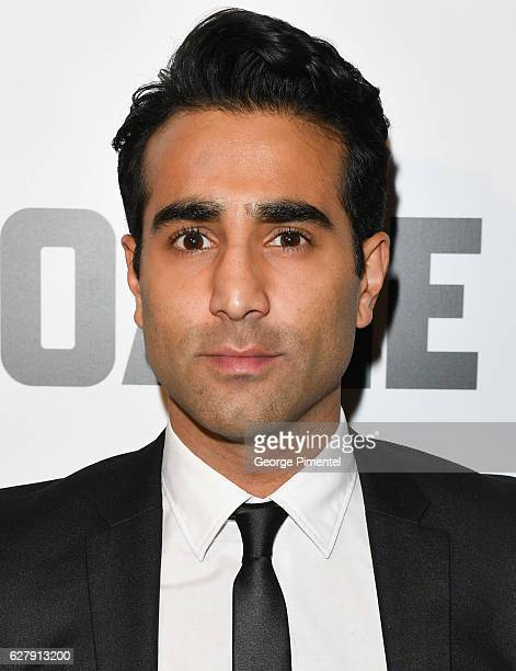 Actor Al Mukadam attends Miss Sloane Toronto Premiere held at Isabel Bader Theatre on December 5 2016 in Toronto Canada