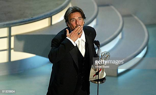 Actor Al Pacino accepts the award for Best Actor in a Miniseries or Movie for Angels in America on stage during the 56th Annual Primetime Emmy Awards...