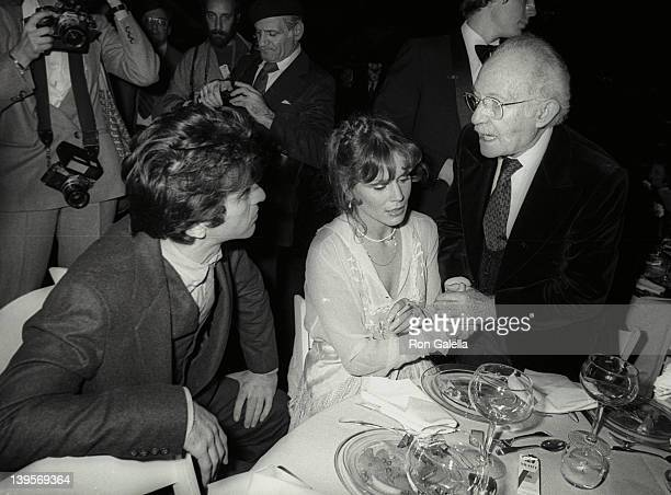 Actor Al Pacino actress Martha Keller and Lee Strasberg attends The Actor's Studio Struttin' Masked Ball on October 25 1978 at Roseland in New York...