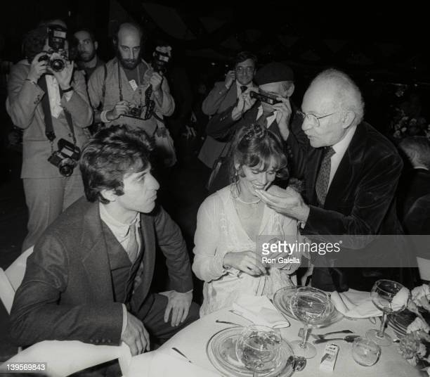 Actor Al Pacino, actress Martha Keller and Lee Strasberg attends The Actor's Studio Struttin' Masked Ball on October 25, 1978 at Roseland in New York...