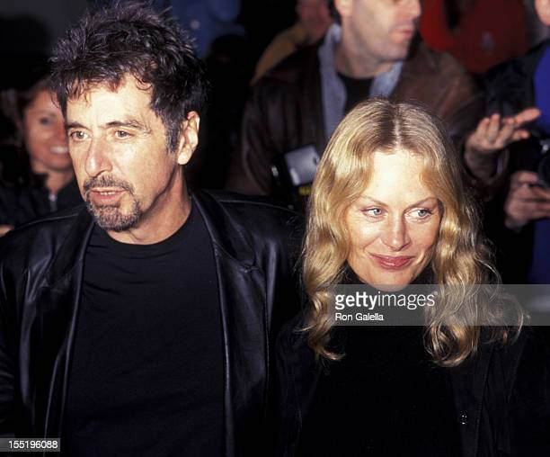 Actor Al Pacino and Beverly D'Angelo attend the premiere party for The Insider on November 1 1999 at the Ziegfeld Theater in New York City