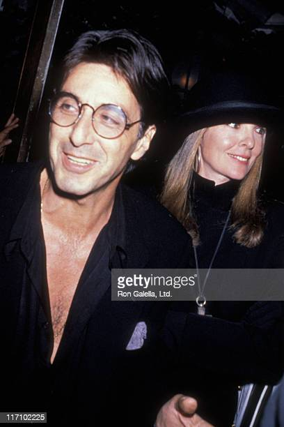 Actor Al Pacino and Diane Keaton attend the premiere party for Sea of Love on September 12 1989 at Tavern on the Green in New York City