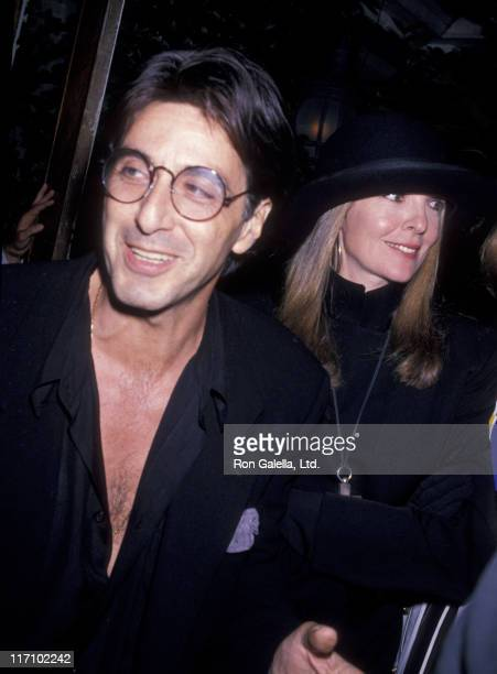 Actor Al Pacino and Diane Keaton attend the premiere party for 'Sea of Love' on September 12 1989 at Tavern on the Green in New York City