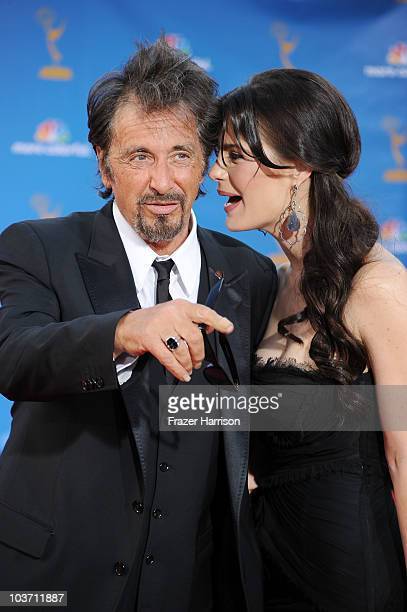 Actor Al Pacino and guest arrive at the 62nd Annual Primetime Emmy Awards held at the Nokia Theatre LA Live on August 29 2010 in Los Angeles...