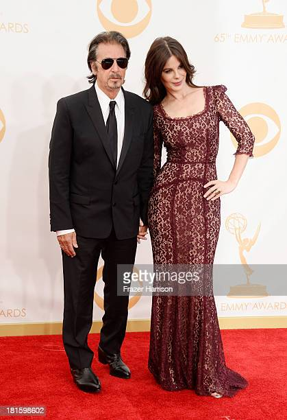Actor Al Pacino and Lucila Sola arrive at the 65th Annual Primetime Emmy Awards Lucila Solaheld at Nokia Theatre LA Live on September 22 2013 in Los...