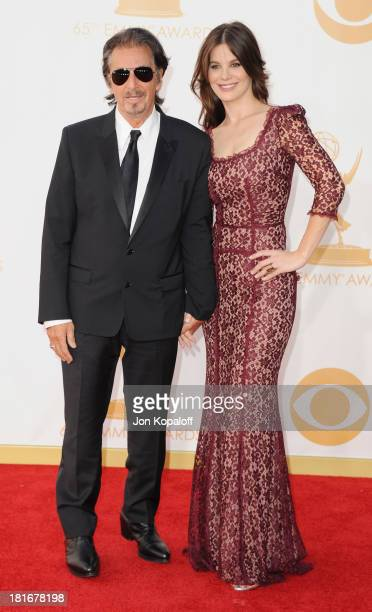 Actor Al Pacino and Lucila Sola arrive at the 65th Annual Primetime Emmy Awards at Nokia Theatre LA Live on September 22 2013 in Los Angeles...