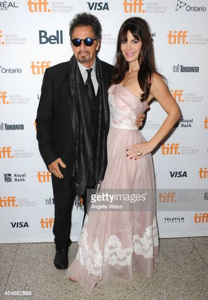 Actor Al Pacino and Lucila Sola arrive at 'The Humbling' Premiere during the 2014 Toronto International Film Festival at The Elgin on September 4...