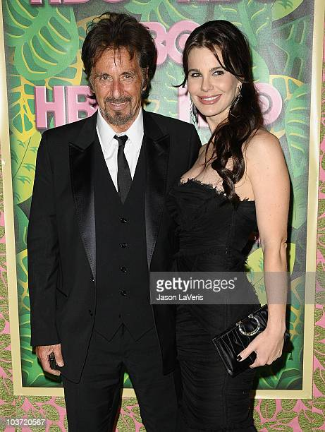 Actor Al Pacino and Lucila Sola attend HBO's post Emmy Awards party at Pacific Design Center on August 29 2010 in West Hollywood California