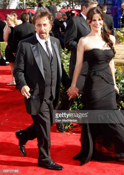 Actor Al Pacino and Lucila Sola attend the 62nd Annual Primetime Emmy Awards at Nokia Theatre Live LA on August 29 2010 in Los Angeles California