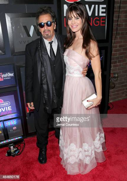 Actor Al Pacino and Lucila Sola attend The Humbling at the Virgin Mobile Movie Lounge on September 4 2014 in Toronto Canada