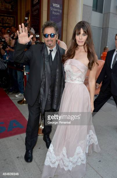 Actor Al Pacino and Lucila Sola attend The Humbling premiere during the 2014 Toronto International Film Festival at The Elgin on September 4 2014 in...