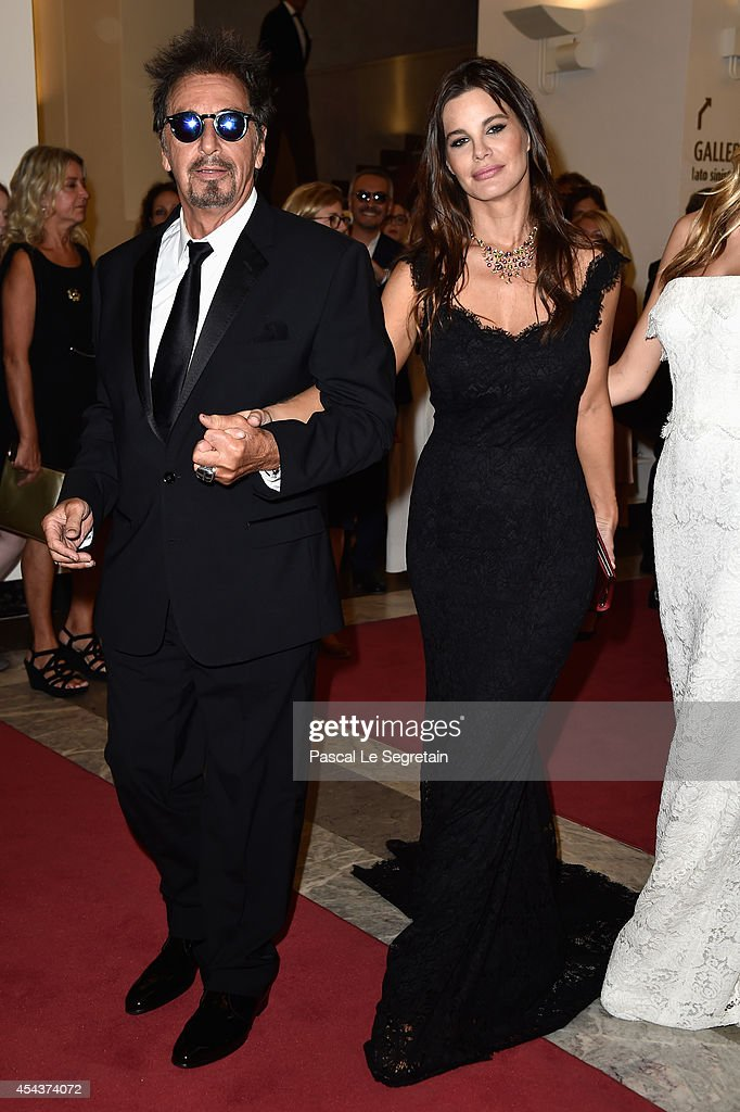 Actor Al Pacino and Lucila Sola attend the 'Manglehorn' premiere during 71st Venice Film Festival on August 30, 2014 in Venice, Italy.