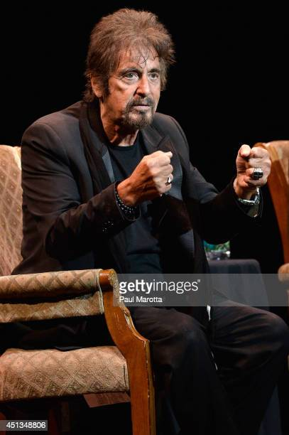 Actor Al Pacino appears in 'An Evening with Al Pacino' at Citi Performing Arts Center on June 27 2014 in Boston Massachusetts