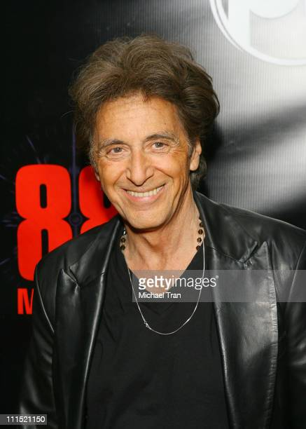 Actor Al Pacino arrives at the World Premiere of 88 Minutes held at Planet Hollywood Resort Casino on April 16 2008 in Las Vegas Nevada